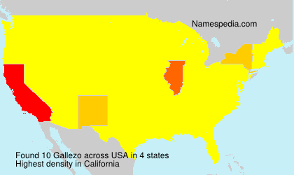 Surname Gallezo in USA