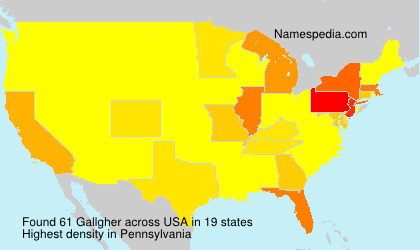 Surname Gallgher in USA