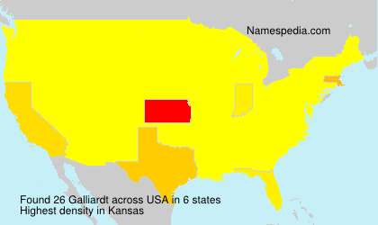 Surname Galliardt in USA