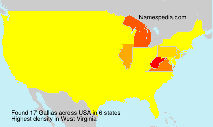 Surname Gallias in USA
