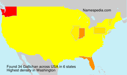 Surname Gallichan in USA