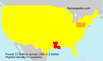Surname Gallicio in USA