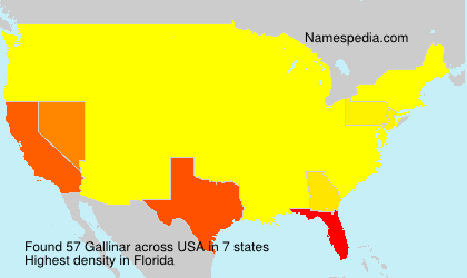 Surname Gallinar in USA