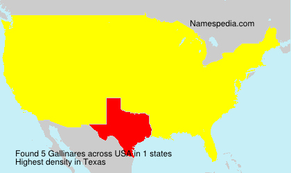 Surname Gallinares in USA