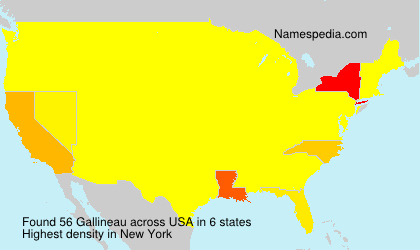 Surname Gallineau in USA
