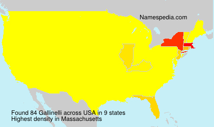 Surname Gallinelli in USA