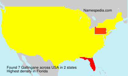 Surname Gallingane in USA