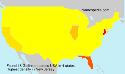 Surname Gallinson in USA