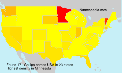 Surname Gallipo in USA