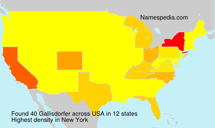 Surname Gallisdorfer in USA