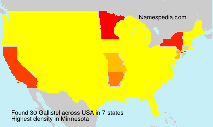 Surname Gallistel in USA