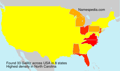 Surname Gallitz in USA