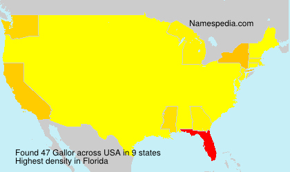 Surname Gallor in USA