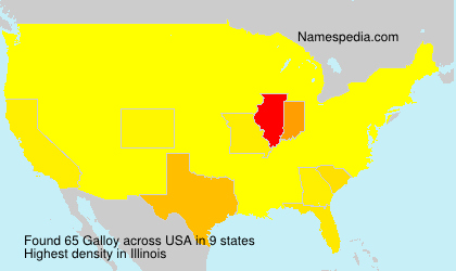 Surname Galloy in USA