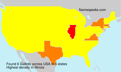 Surname Gallrdo in USA