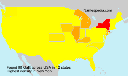 Surname Gallt in USA
