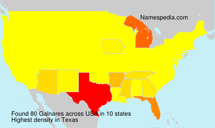 Surname Galnares in USA