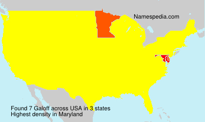 Surname Galoff in USA