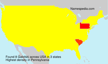 Surname Galofski in USA