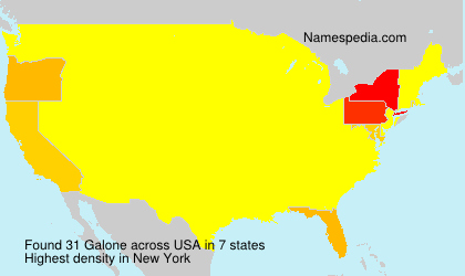 Surname Galone in USA