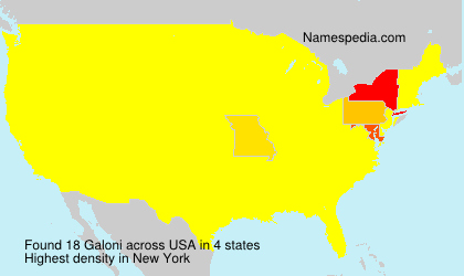 Surname Galoni in USA