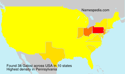 Surname Galosi in USA