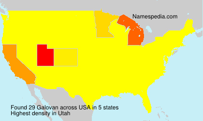 Surname Galovan in USA