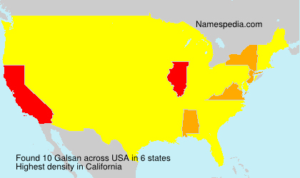 Surname Galsan in USA