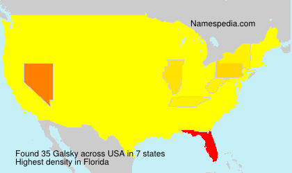 Surname Galsky in USA
