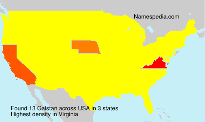 Surname Galstan in USA