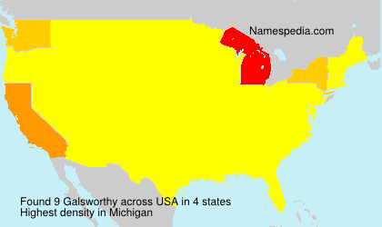 Surname Galsworthy in USA