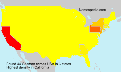 Surname Galtman in USA