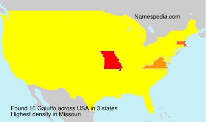Surname Galuffo in USA