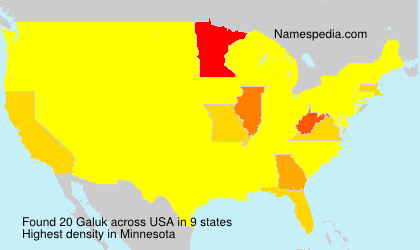 Surname Galuk in USA
