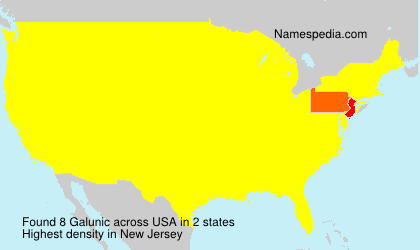 Surname Galunic in USA