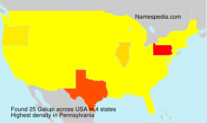 Surname Galupi in USA