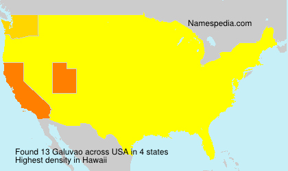 Surname Galuvao in USA