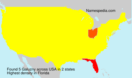 Surname Galuzny in USA
