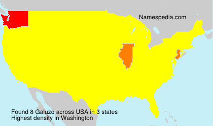 Surname Galuzo in USA