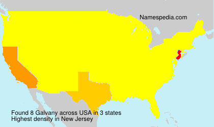 Surname Galvany in USA
