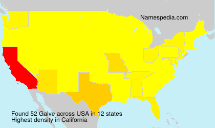 Surname Galve in USA