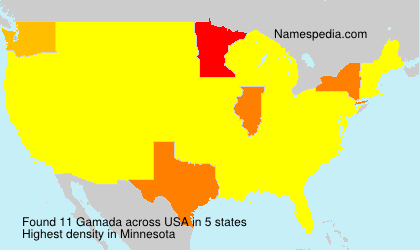 Surname Gamada in USA