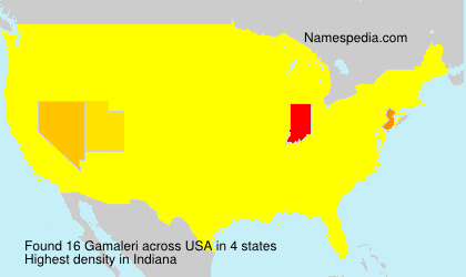 Surname Gamaleri in USA