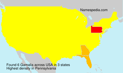 Surname Gamalia in USA