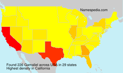 Surname Gamaliel in USA