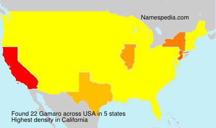 Surname Gamaro in USA