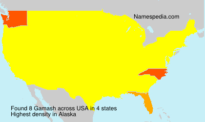 Surname Gamash in USA