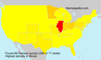 Surname Gamauf in USA