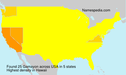 Surname Gamayon in USA