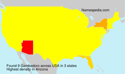 Surname Gambadoro in USA